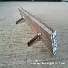 Chromium carbide plate with bolt